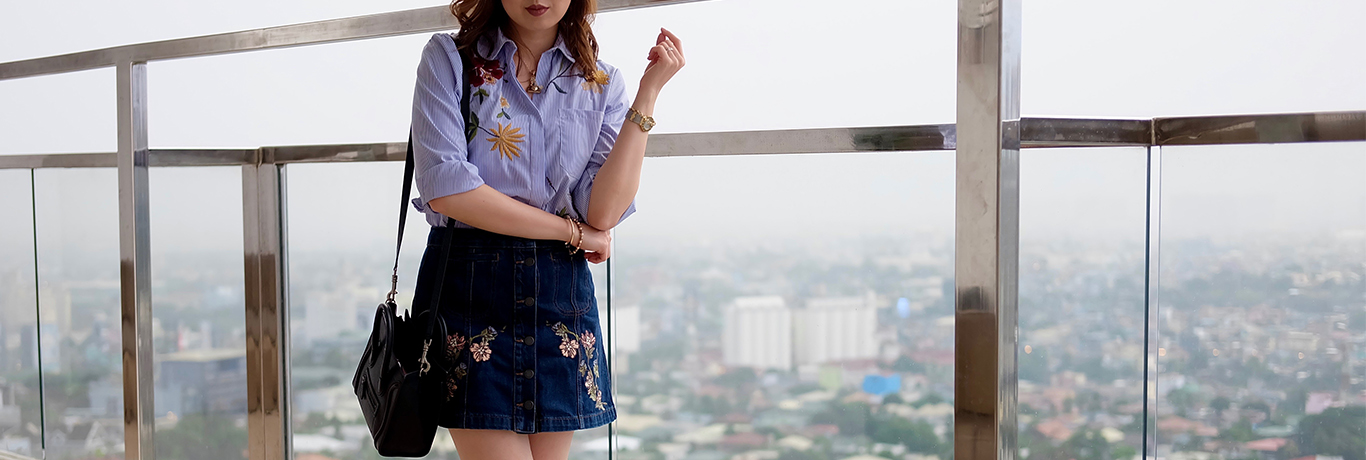 embroidered top skirt