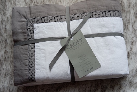 John Lewis Duvet cover grey